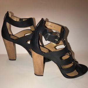 Dolce Vita Women's Wood heels leather leather 7.5